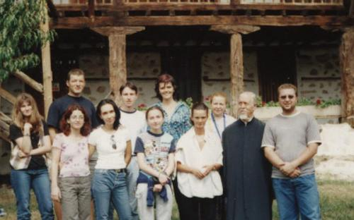At the Rozhen Monastery with Father Balachev 2001